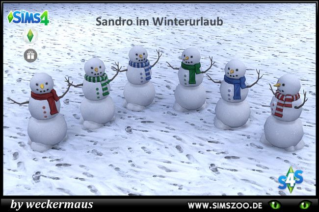 Snowman by weckermaus at Blacky's Sims Zoo • Sims 4 Updates