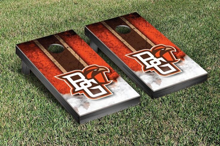 Bowling Green State University Falcons Vintage Stripe Cornhole Tailgating Game