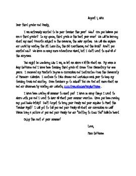 Here is the welcome letter that I send home every year before school starts.  I copy both letters front to back (one for the kids and one for the p...