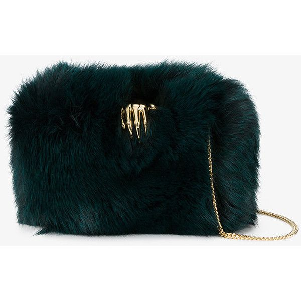 Benedetta Bruzziches Carmen Fox Fur Bag ($1,125) ❤ liked on Polyvore featuring bags, handbags, shoulder bags, shoulder bag purse, fox fur purse, shoulder handbags, fox fur handbag and locking purse