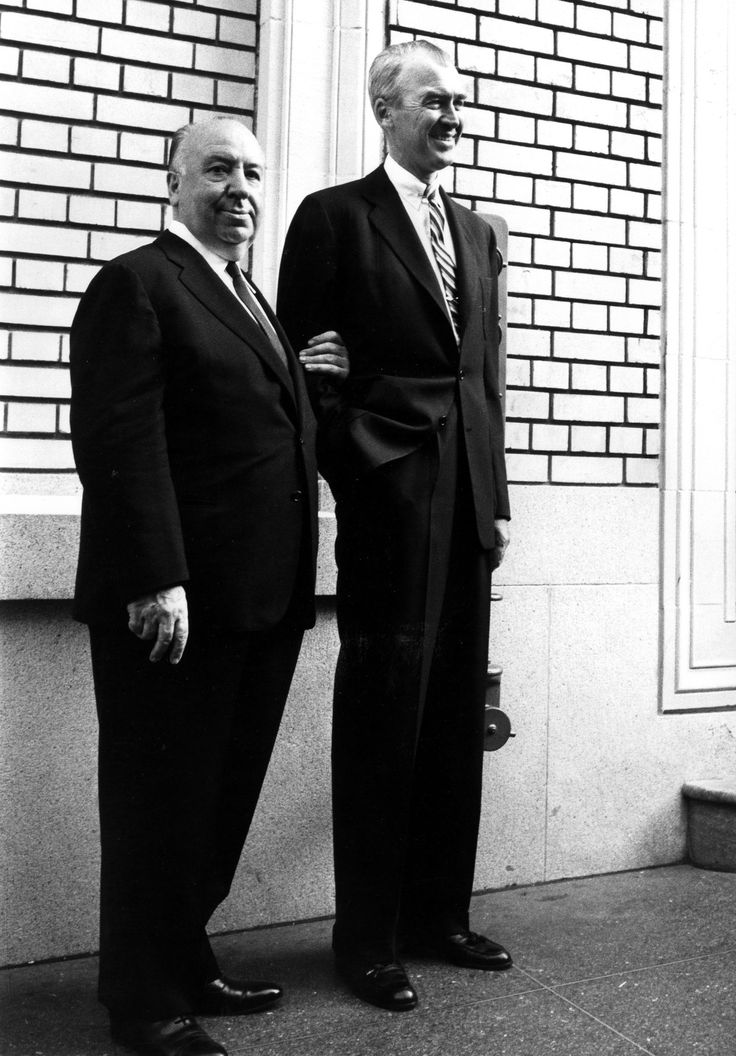 """lars134: """" Alfred Hitchcock and Jimmy Stewart """""""