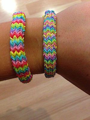 Rainbow Loom Rubber Band Bracelet - Customized Hexafish Design (150)