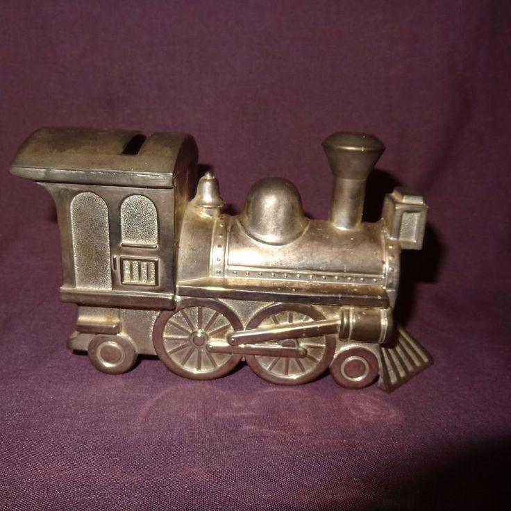 "Vintage Train Piggy Penny Bank Metal Color Silver Locomotive Steam Engine 3"" | Collectibles, Banks, Registers & Vending, Still, Piggy Banks | eBay!"