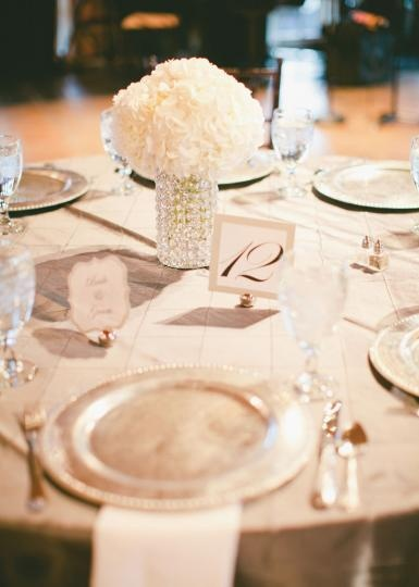 Lovely White And Champagne Wedding Decor Florals By The French Bouquet