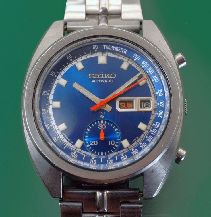 Vintage 1960's Seiko Automatic Chronograph Original Blue Dial ref. 6139-6015  | eBay