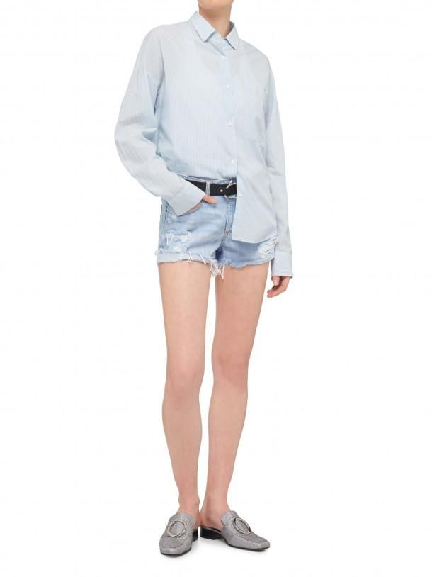 NOBODY - Fineline Shirt - Pureblue