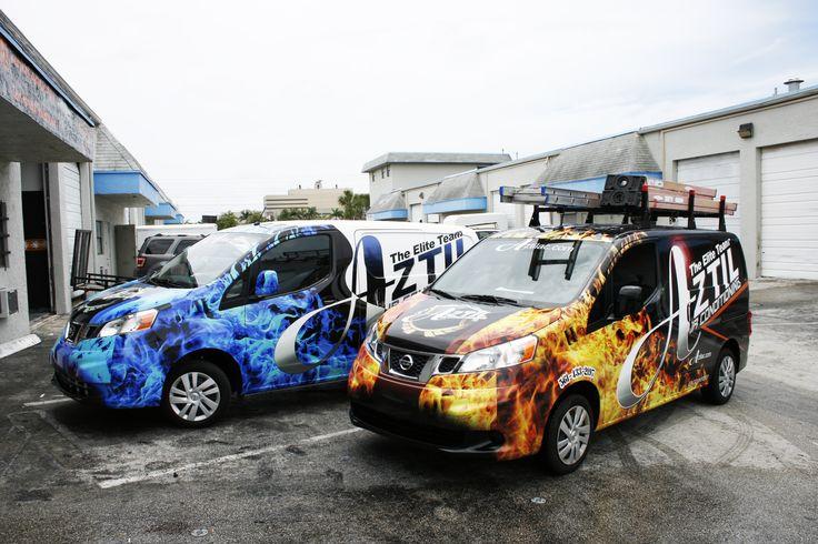Nissan NV 200 Vinyl Vehicle Wrap Miami Florida. HVAC Air