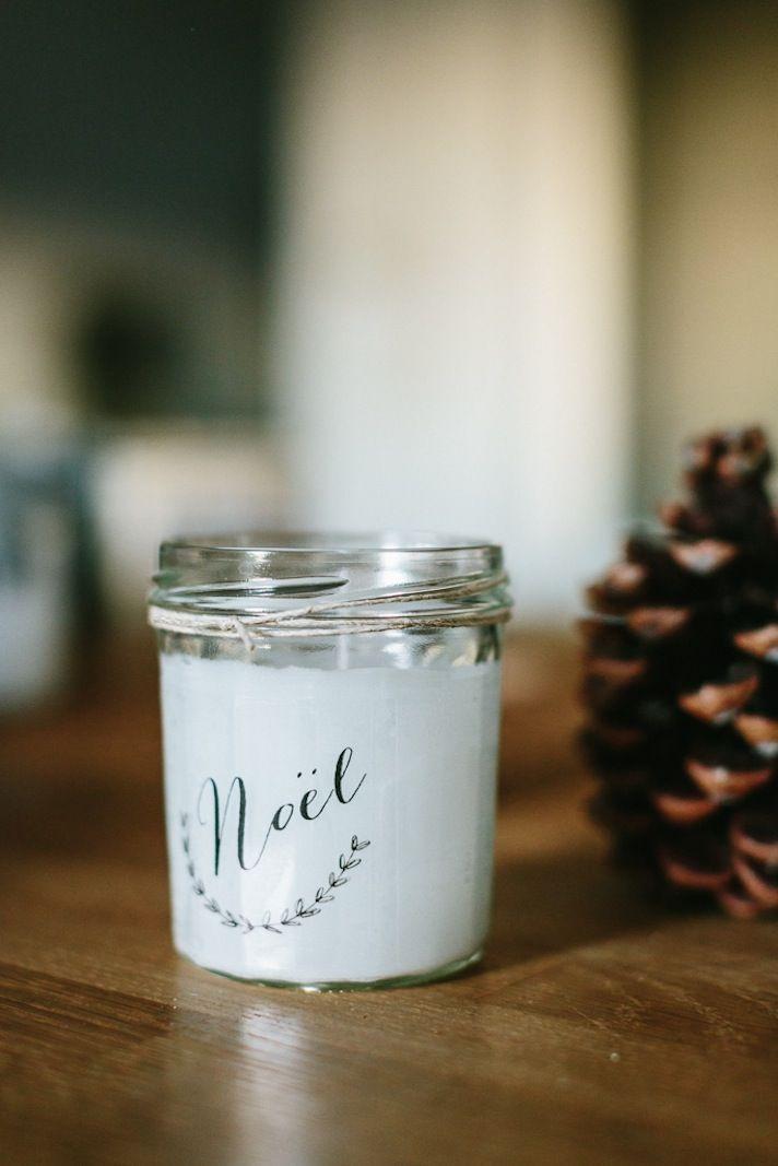 Des Bougies DIY pour Noël - Le Blog de Madame C