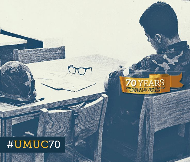 This #ThrowbackThursday takes us back to 1989 with this UMUC Europe student studying for a course taught in the Sinai Desert. #umuc70