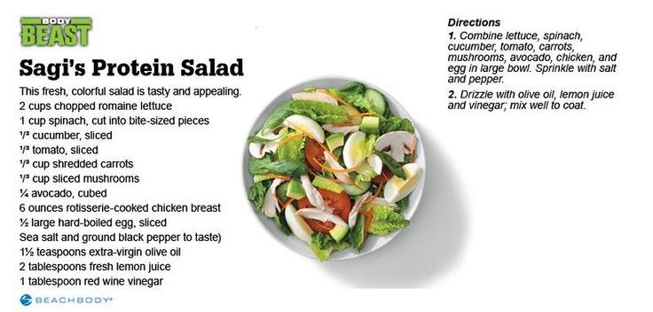 Body Beast Sagi's Protein Salad