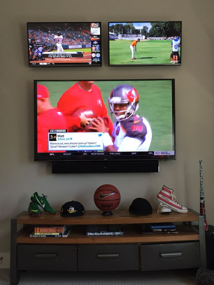 Man Cave With Multiple Tvs : Best images about averys apartment on pinterest