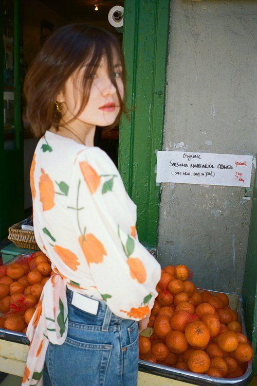 e2007da7 GANNI | Tilden Tulip Mesh Wrap Top - Vanilla Ice | SHOP | LISA SAYS ...