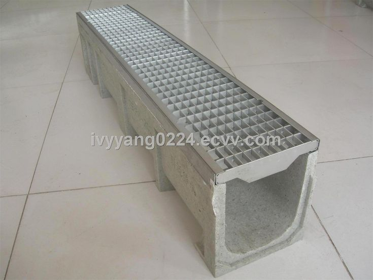 Polymer concrete trench drain drain system with gratings for Outside drainage system