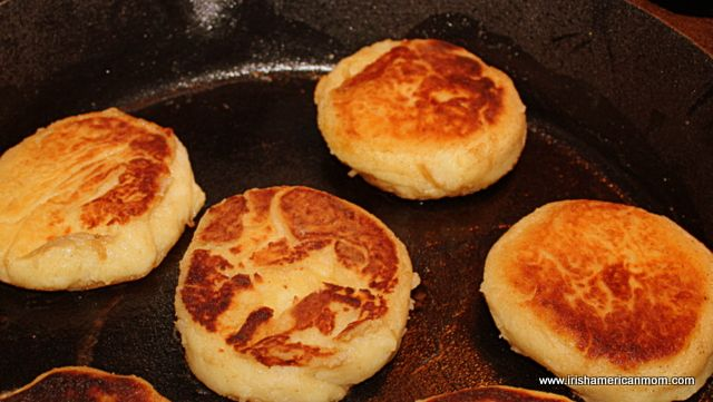 ♧Irish Potato Cakes.  Known as Tattie Scones in Scotland, potato scones in the Isle of Man, or fadge in parts of Northern Ireland, these savory, fried potato patties make a great side dish. (1) From: Irish American Mom, please visit