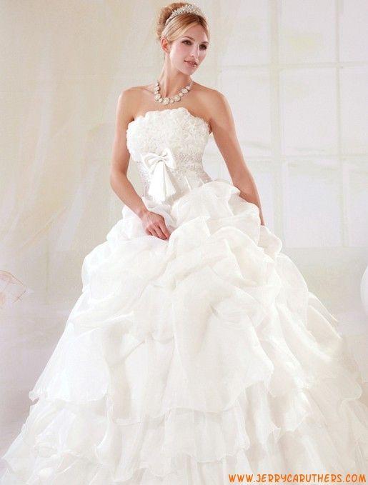 vintage prinses kralen organza bruidsjurk