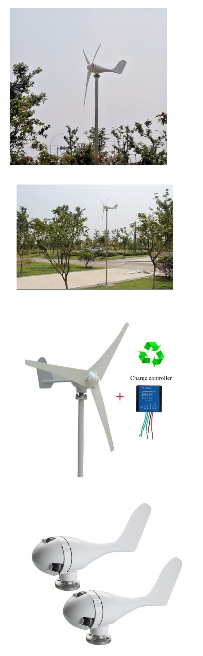 Wind Generators 121837: 400W Wind Turbine Generator 12V 24V 3 5 Blade Power Supply + Charge Controller -> BUY IT NOW ONLY: $169.99 on eBay!