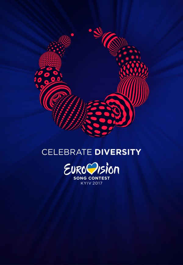 The Public Broadcasting Companyof Ukraine (UA:PBC) and the European Broadcasting Union (EBU), today revealed the much-anticipated theme of the 2017 Eurovision Song Contest; Celebrate Diversity. The Eurovision Song Contest will be held in the Ukrainian capital Kyiv with 43 countries participating. Both the slogan and artwork of the event give an insight into Ukrainian culture and a hint at what might be to come when fans visit the city in May.