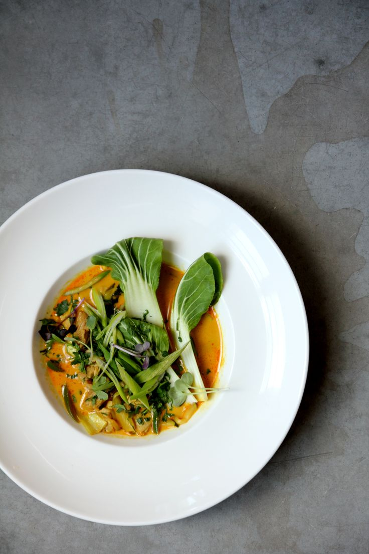 Lunch menu: Zupa curry z kurczakiem i warzywami /  Curry soup with chicken and vegetables