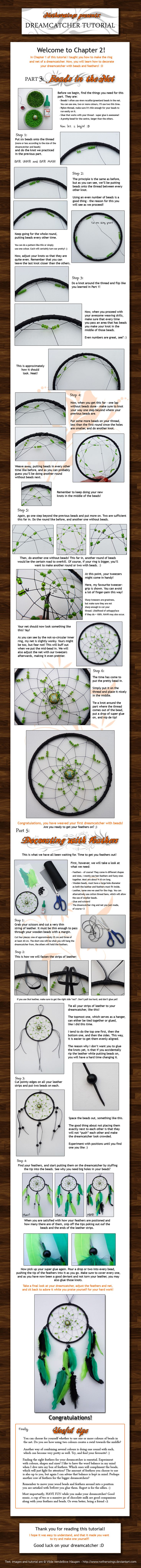 Dreamcatcher tutorial: Ch. 2 by ~netherwings on deviantART...the other chapter(s) are available on the site