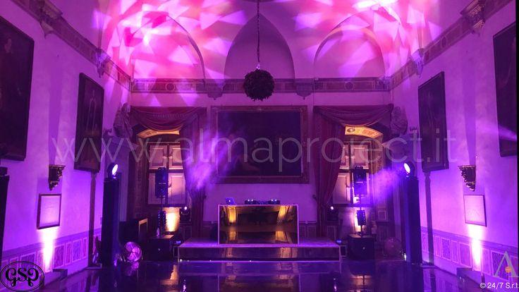 ALMA PROJECT 24/7 @ Villa Corsini - Sala della Guardia - Black Glossy Dancefloor - Eva Console Golden Mirror - Moving Heads - Deejay Stage - 033 - GSP Production