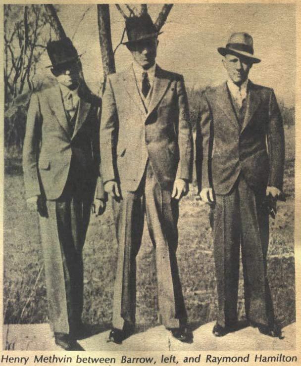 Clyde Barrow, Henry Methvin, and Raymond Hamilton