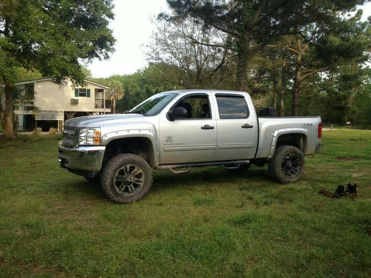 silver silverado lifted images - photo #2