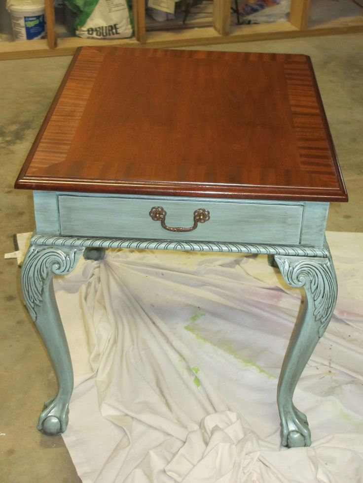 Ethan Allen Table Makeover, Ethan Allen Furniture Repair