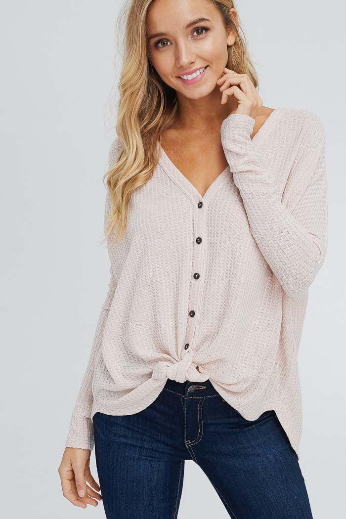 3e076abc02 Arianna Button Down Sweater : Taupe – GOZON Boutique #boutiquewomensclothing