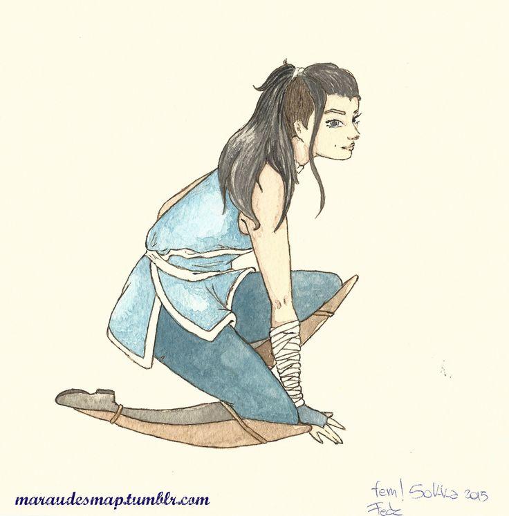 fem!Sokka Avatar the last airbender  #Avatarthelastairbender #Sokka #fem!Sokka #genderbend #fanart