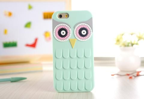 3D Cartoon Owl Soft Silicone Phone Case Cover - Apple iPhone 4, 4S, 5, 5S, 6…