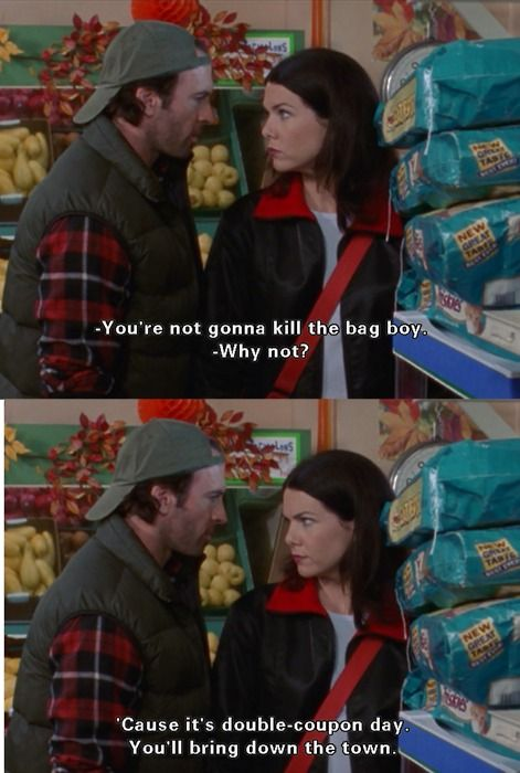 Gilmore Girls. One of my favorite episodes. Also how I think I would handle finding out my daughter had kissed someone