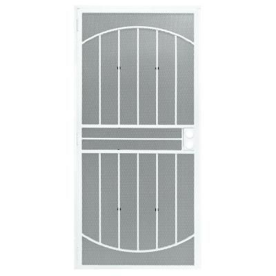 First alert apollo 36 in x 80 in steel white prehung - Home depot exterior doors 36 x 80 ...