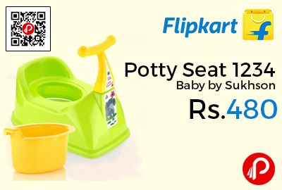 Flipkart is offering 40% off on Potty Seat 1234 Baby by Sukhson at Rs.480 Only. Sukhson 1234 baby potty is perfect for potty training your baby. The bright color, removable potty bowl, wide seat, high back and splash guard makes it comfortable and easy to use for your baby. This baby potty also features a lid for the potty bowl in order to maintain hygiene.  http://www.paisebachaoindia.com/potty-seat-1234-baby-by-sukhson-at-rs-480-only-flipkart/