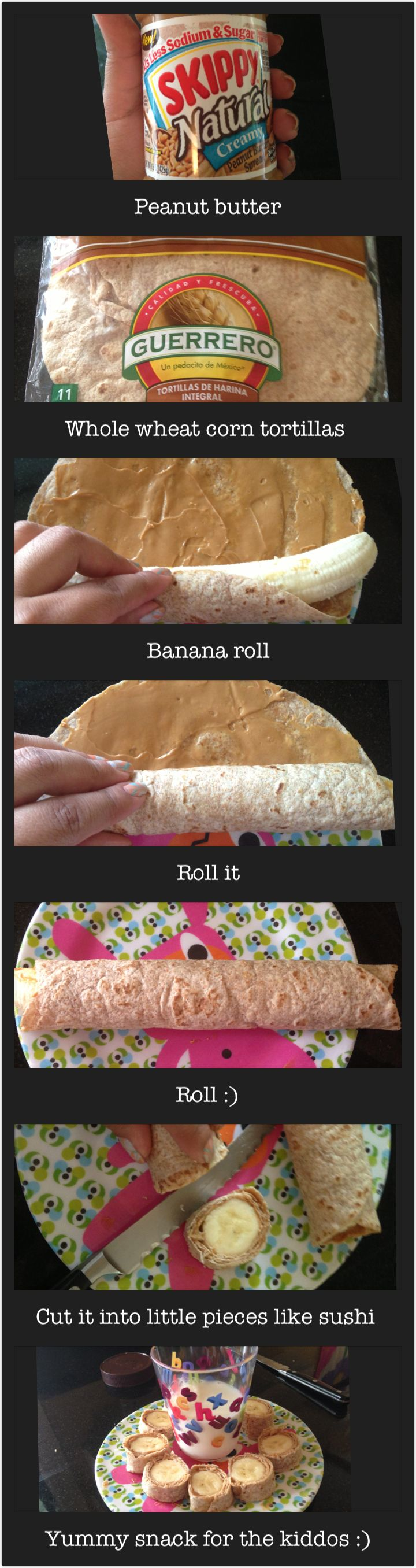 Easy and healthy snack for kids, so yummy :)