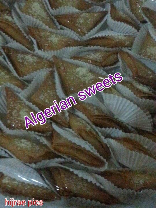 Samsa is Algerian sweets with almond n honey.