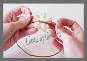 How to Make Skinny Elastic Headbands  How to make a headband using 1/8″ Skinny Elastic.    Newborn – 13 3/4″  3-6 Months – 15″  6-12 Months – 16 1/4″  12m – Tween – 17 1/4″  Adult – 18 1/4″