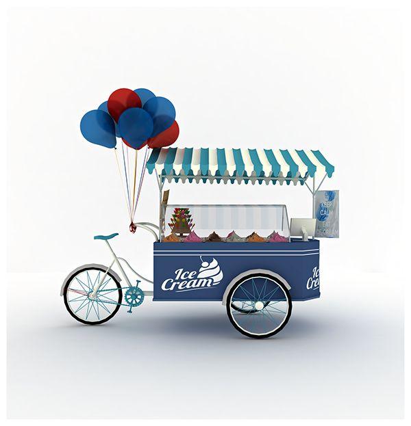 Ice Cream Cart 3dMax on Behance