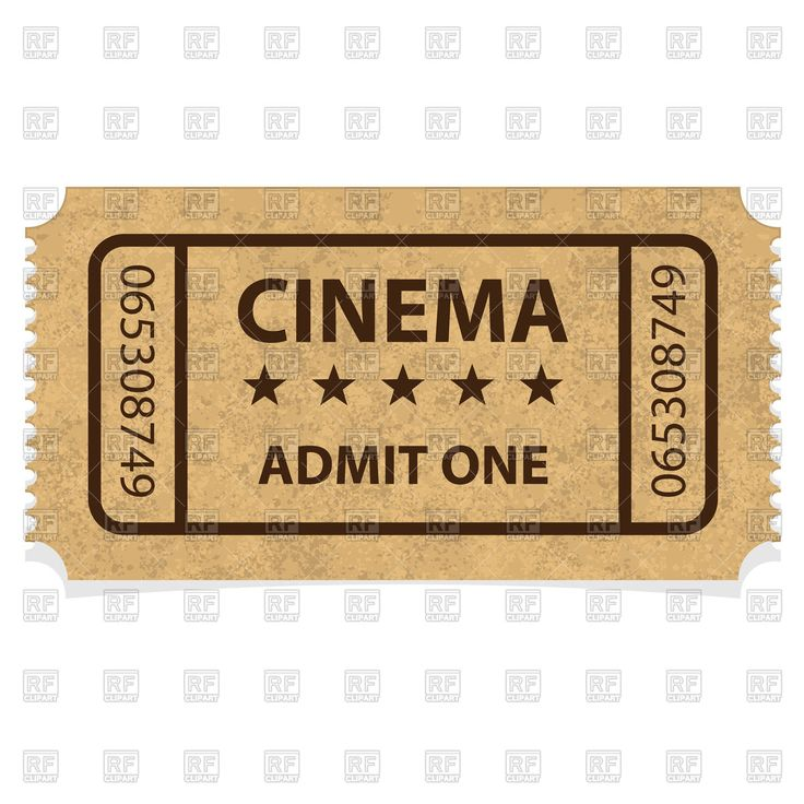 Vector image of Retro cinema ticket #171773 includes graphic collections of ticket. You can download this image in EPS and JPG format.