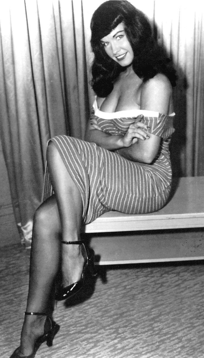 I learned to love my body b/c of her -> Bettie Paige