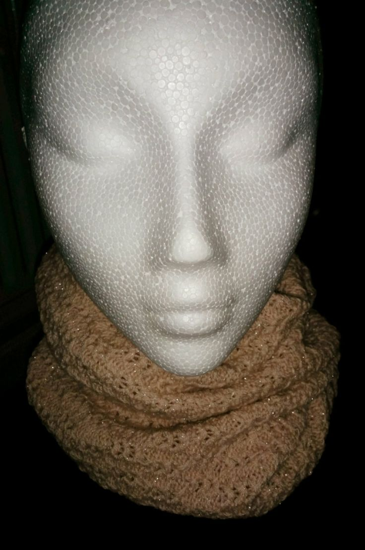 Knitted Loop Scarf100 Lambswool Mix  Coral by RoisinMcAtamney, £14.95