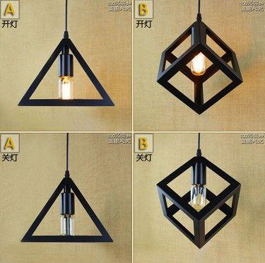 Nordic Loft Iron Droplight Industrial Vintage Pendant Light Fixtures For Living Dining Room Bar Hanging Lamp Lamparas Colgantes #Affiliate