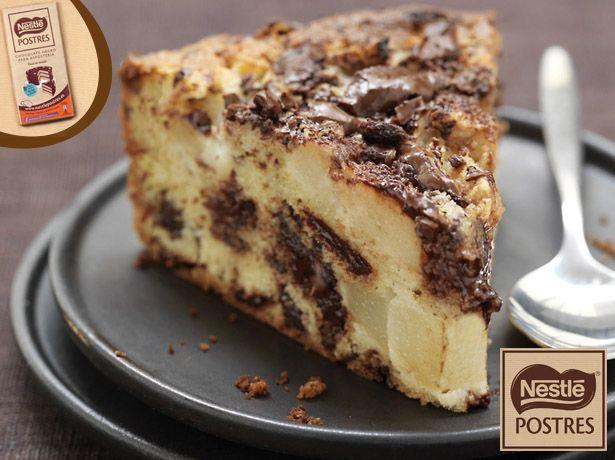 Tarta de peras y pepitas de Chocolate