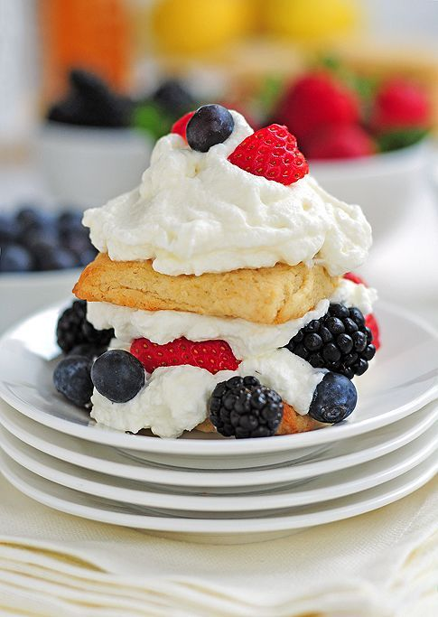 Citrus Tea Biscuits and a Berry Honey Shortcake from @Amy Johnson / She Wears Many Hats