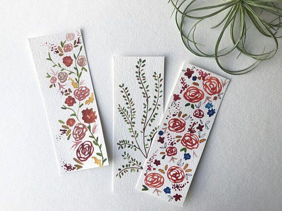 Custom Bookmarks / Watercolor Bookmarks / Watercolor Originals