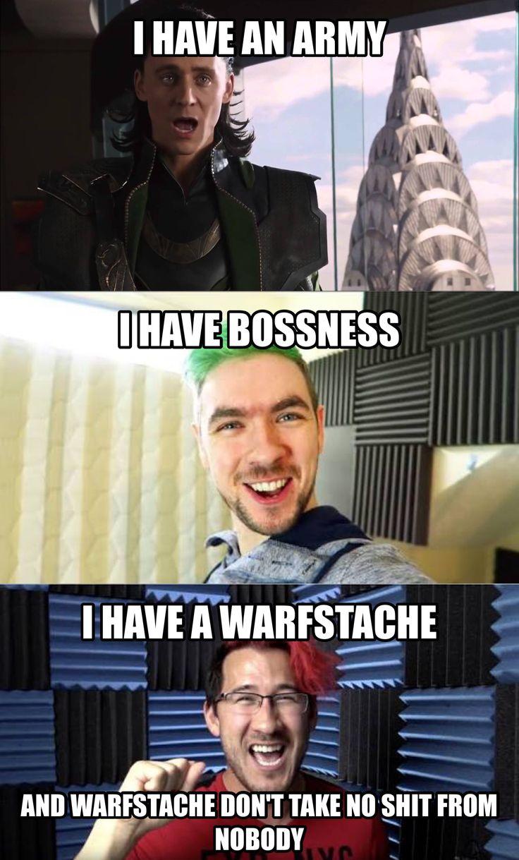 Warfstache don't take SHIT from NOBODY!! Markiplier