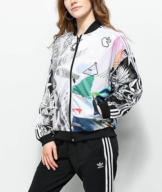 ADIDAS SS TT Womens Track Jacket MULTI 323853957 | Tillys