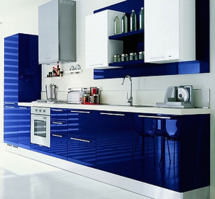 Modular Kitchen High Gloss Membrane Beryl In 2019