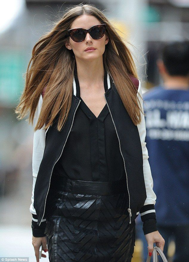 Meow! Cat-eye sunglasses top off Palermo's look and give her outfit an extra dose of edginess