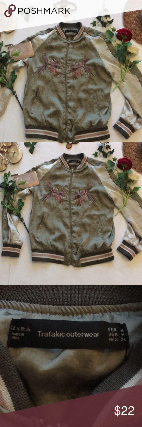 ❤Zara Jacket❤ ❤in good used condition Zara Bomber Jacket in size Medium❤ Zara Jackets & Coats