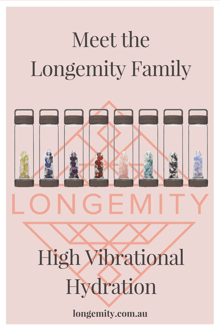 Meet the Longemity Family. Beautiful luxe crystal water bottles, with interchangeable gem pods.  Just launched world wide with shipping end of Sept 2017.  Gem Water.  Crystal Water Bottle. Crystal Elixir. Vibration Hydration on the go. www.longemity.com.au